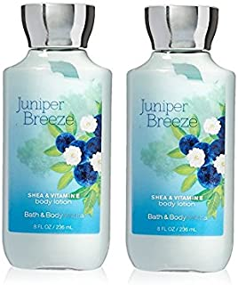 2PK Bath & Body Works Shea & Vitamin E Lotion Juniper Breeze,