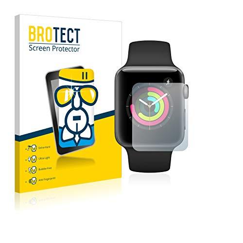 BROTECT Panzerglas Schutzfolie kompatibel mit Apple Watch Series 3 (42 mm) - AirGlass, extrem Kratzfest, Anti-Fingerprint, Ultra-transparent