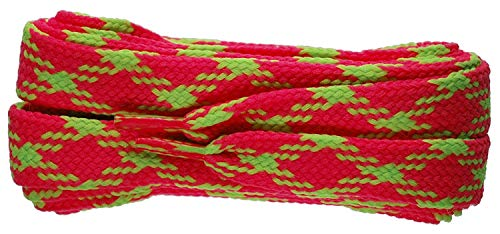 Shoe-String Carreaux 100cm Chaussure/Tennis/Baskets Lacets - Rose, 100cm
