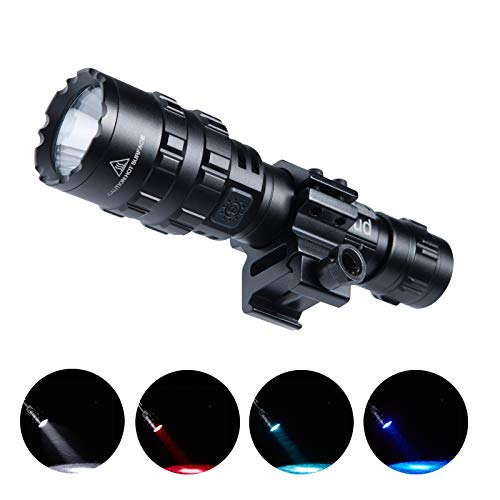 Cazoud Tactical Flashlights, Bright LED Rechargeable Tactical Flashlight, with 1600 Lumen Picatinny Rail Mount and USB Rechargeable Battery, The Flashlight for Rifle, Pistol, Hunting and Military.