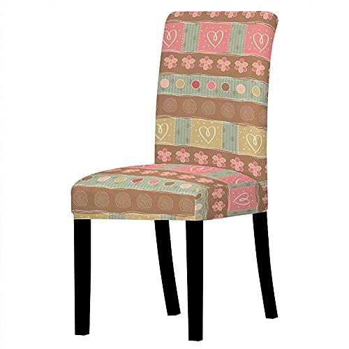 2 delar stolskydd kärlek hjärta ryggstöd stolskydd rosa brun universal stolskydd stretch stolskydd mycket lätt att rengöra och hållbar för S