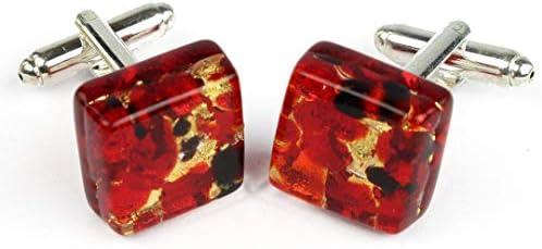 Gemelos de Cristal de Murano OMG, Color Rojo