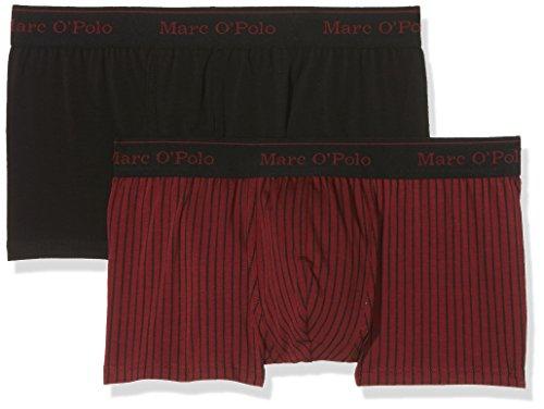 Marc O'Polo Body & Beach Herren Multipack M-Cyclist 2-Pack Retroshorts, Rot (Burgund 516), Medium (2er Pack)