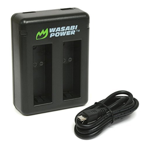Wasabi Power Dual USB Battery Charger for GoPro HERO8 Black, HERO7 Black, HERO6 Black, HERO5 Black, Hero 2018 Model