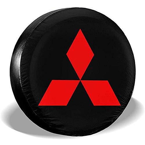 Kejbr Cubiertas de la Rueda de respuesto, Spare Tire Cover Mitsubishi Logo Dust-Proof Universal Fit Wheel Tire Protector
