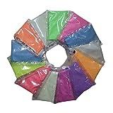 SUPVOX 8pcs Resplandor en el Polvo de Pigmento Oscuro a Prueba de Polvo de Brillo Luminoso para Nail Art Pintura de la Cara decoración (Color al Azar)