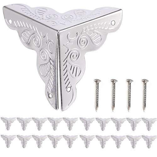 dise/ño de lat/ón malet/ín cajas 2/unidades, incluye tornillos, 59/mm x 40/mm cajas Vintage candado para cortinas fuxxer/® de 2/x Cierres para ba/úles