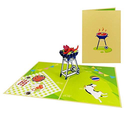 3D Pop Up Karte Geburtstagskarte Glückwunschkarte Grußkarte Camping Urlaub Geburtstag Feier Freundschaft - BBQ/Grill 022