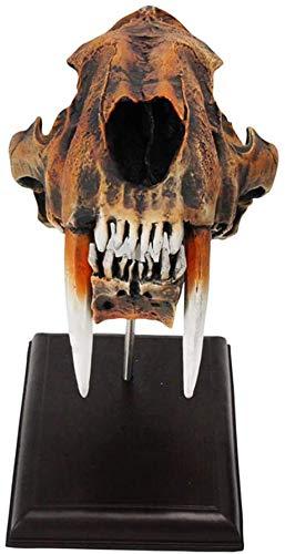 LBYLYH Amerikanische Säbelzahntiger Skeleton Modell, Boutique 1, 1, Hohe Imitation 35Cmx Breite 19.5Cmx Höhe 15Cm, Weiss,Schwarz