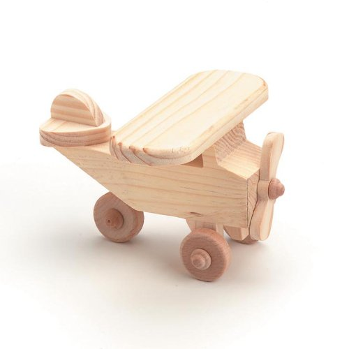 Darice 9163-46 Wood Airplane Craft