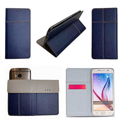 Supercase24 Handy Tasche für ZTE Blade C341 Book Hülle Klapp Cover Schutz Etui Hülle in blau