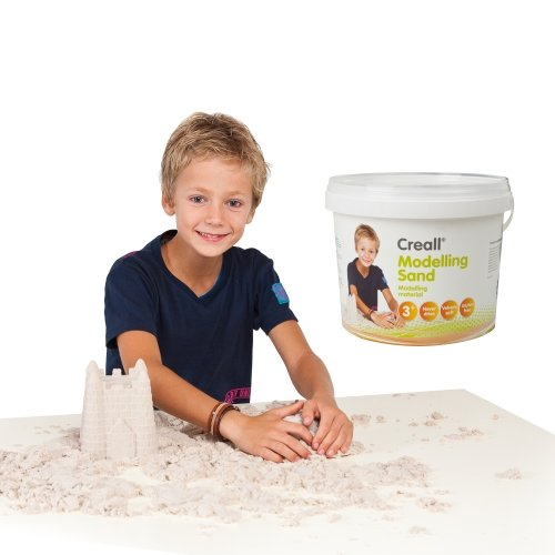 Creall Modelling Sand, 5 kg - Modelliersand Bastelsand Spielsand Therapiesand Modelliermasse