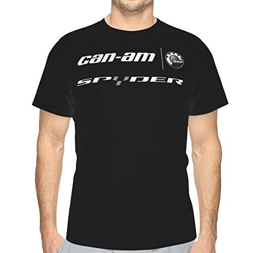 Can-Am Spyder 3D Mens Graphic Crewneck T-Shirt Novelty Funny Short Sleeve Casual Cartoon Tee Top XL Black