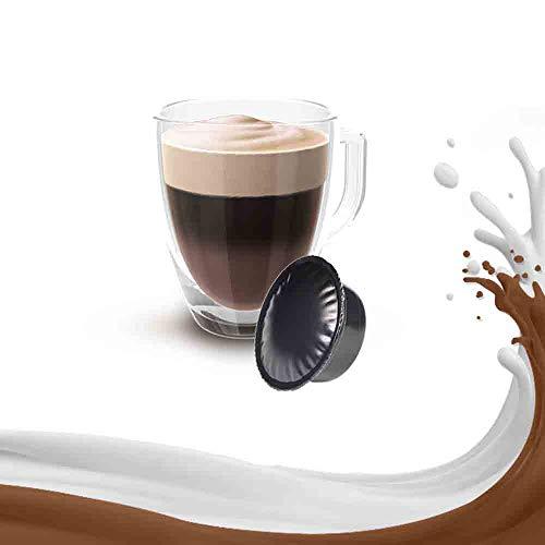 50 Capsule Caffe Mocaccino Compatibile Lavazza A Modo Mio - Bevanda in Cialde
