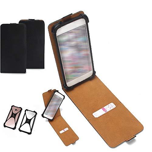 K-S-Trade Handy-Hülle Schutz-Hülle Kompatibel Mit Phicomm Clue 2S Schutzhülle Handyhülle Bumper Schwarz 1x