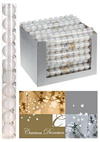 DekoStore.eu 10 palline di Natale bianco - ø 4 cm Matt poposh - bianco per albero di Natale