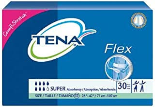 TENA Flex Super Adult Belted Undergarment TENA Flex Super Tab Closure Size 12 Disposable Heavy Absorbency, 67805 - Case of 90