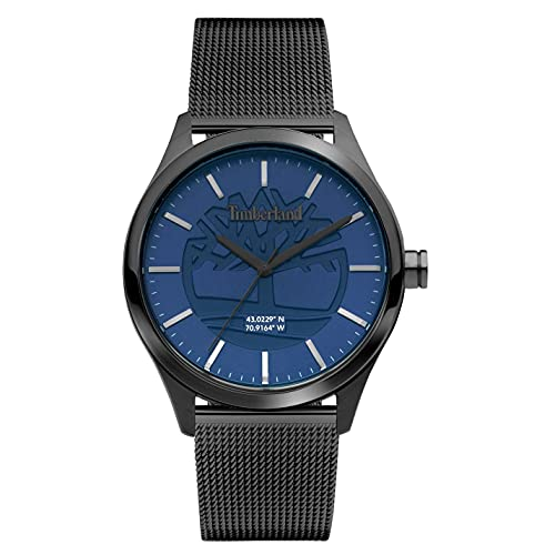 Timberland Reloj Analógico para Hombre de Cuarzo con Correa en Acero Inoxidable TDWGG2100802