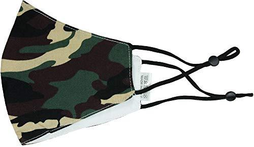 Trachtenland Mund Nase Stoffmaske Gesichtsmaske aus 100% Baumwolle - Camouflage Grün/Braun