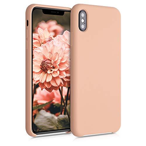 kwmobile Funda Compatible con Apple iPhone XS MAX - Funda Carcasa de TPU para móvil - Cover Trasero en Calabaza Claro