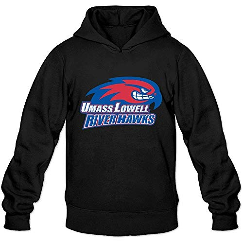 BAODING UMass Lowell River HawksLong-Sleeve Hoodies For Man Black
