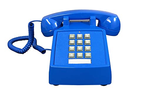 Corded Desk Telephone Blue Color