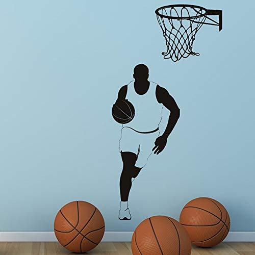 Tianpengyuanshuai Muursticker Sport Fitness Wand Basketbal ster afneembaar huis jongen raam gym raamdecoratie
