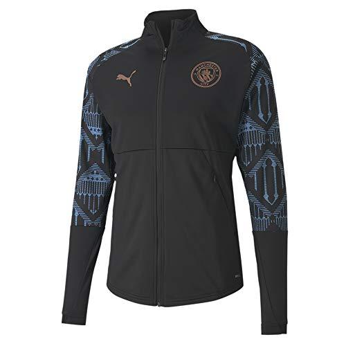 PUMA Manchester City Temporada 2020/21-STADIUM Jacket w Zipped Pockets PUM Chaqueta, Mujer, Negro, XL