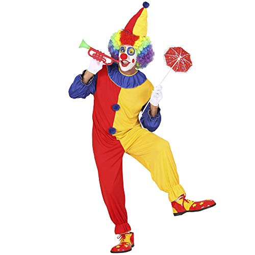 Widmann 02703 - Erwachsenenkostüm Clown, Kostüm mit Hut, Größe L
