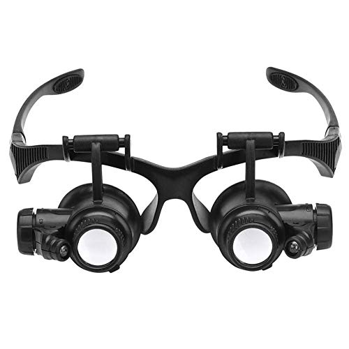 LIJIAO Head-Mounted Magnifier Glasses Microscope LED Lamp Bead High Magnification High-Definition Magnifying Glass