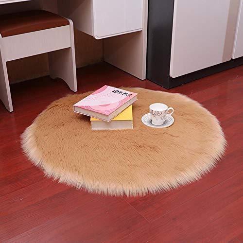 Senior Home Ronde Imitatie Wol Tapijt Baby Slaapkamer Dekbed Stoel Mat Pluche Bay Raam Tapijt Decoratie Aangepast