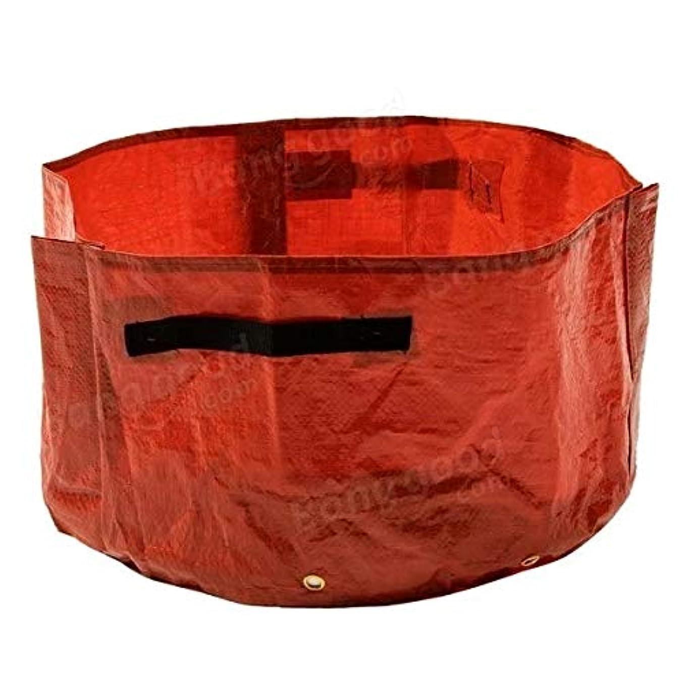 突然ユニークな野心Plant Gardenプランターバッグ ホーム用ハンドル付きレッドバルコニーの野菜を植えるバッグガーデンバッグ スクエアガーデン植栽バッグ (Color : Red, Size : 45cm)
