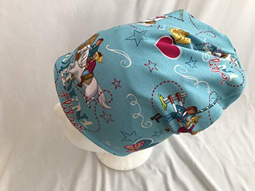 Mütze Bibi und Tina auf hellblau 50-54