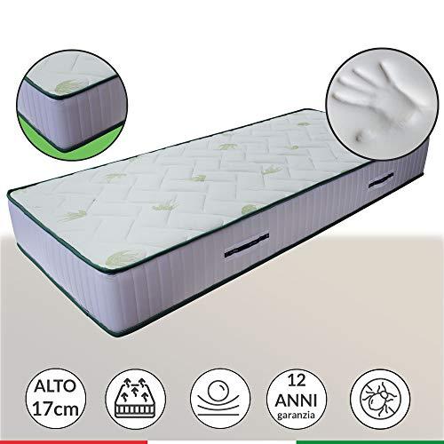 Materasso anatomico LISA H17 cm, con accogliente memory Foam e poliuretano, singolo 110x190 cm