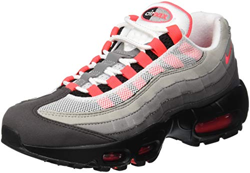 Nike Unisex-Erwachsene Air Max 95 Og Laufschuhe, Mehrfarbig (White/Solar Red/Granite/Dust 100), 40.5 EU
