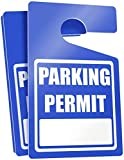 Parking Permit Hang Tags (Blue) - 50 Tough Thick Re-Usable Weatherproof Passes for Car Or Vehicle Rear View Mirror/Perfect for Employees, Residents, Tenants and More 3' x 5' by MESS