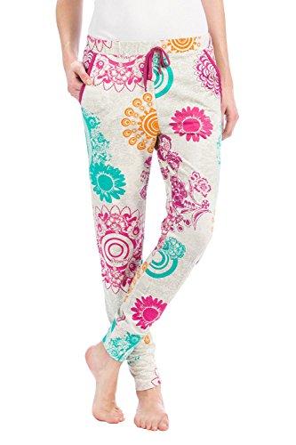 Desigual Trousers Happy Vigore Pantalon, Lila Flandes, L/XL para Mujer