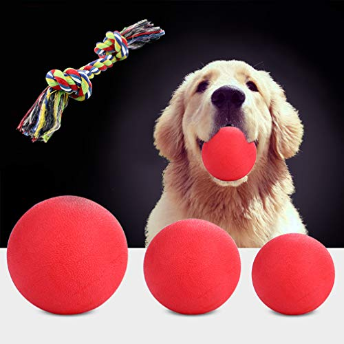 OFFLOAT Hundebälle Hundespielzeug kaut Gummiball Pet Training Bouncy Ball (XL)