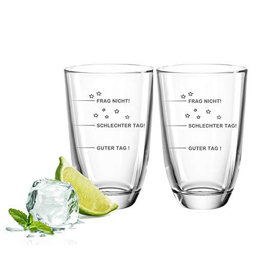 FORYOU24 Juego de 2 vasos de ginebra, regalo para buenos amigos y parejas, set de regalo para ginebra + tónico de ginebra