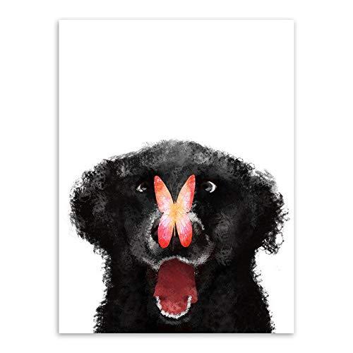 Abstract zwart-wit koptelefoon muziek canvas muurkunst drukposter afbeelding Nordic woonkamer decoratie schilderij frameloos schilderwerk