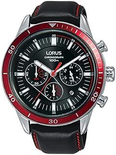 ساعة رياضية كرونوغراف بحزام جلدي للرجال من «لوروس» موديل RT307HX9