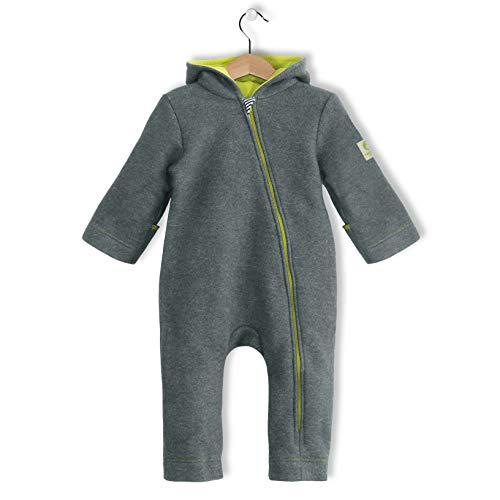 bubble.kid berlin - Herbst Winter Overall - Anu Soft Walk Wolle 62-68 (0-6 Monate), steingrau