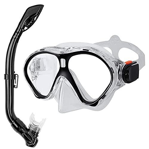 FGHJKOO Gafas de buceoTubo de respiración para Traje de Buceo Infantil,Máscara de Buceo antivaho y antifugas, Gafas de Snorkel, Gafas de Buceo, Gafas de natación, Unisex