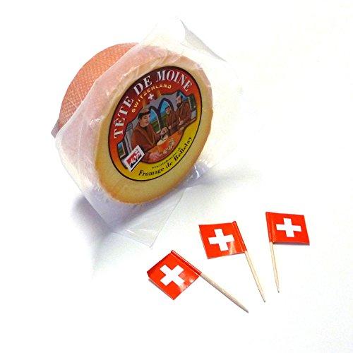 Tete de Moine, formaggio a testa di monaco, semisferico, sigillato. Tete de Moine circa 400 g sigillato in pellicola (formaggio a testa di monaco) Original. Nell'originale Jura i monaci del Closter Bellelay lo hanno inventato centinaia di anni fa: il...