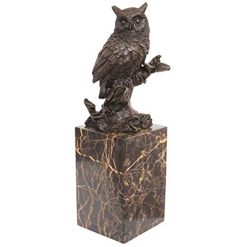 Escultura de Bronce búho Figura de Bronce Estilo Antiguo 28cm