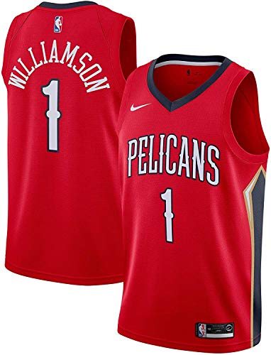 Nike Zion Williamson New Orleans Pelicans NBA Boys Youth 8-20 Red Statement Edition Swingman Jersey (Youth X-Large 18-20)
