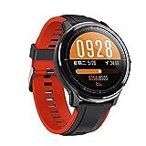 LUWEI Gesundheitsportarten Smart Watch, IP68 wasserdicht Full Touch Screen Fitness Tracker mit Herzfrequenz & Schlafmonitor für Android iOS,Rot