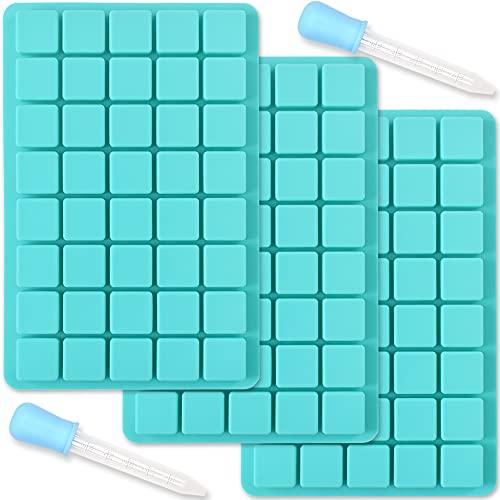 ionEgg 40 cavidades cuadradas de silicona para hacer dulces de chocolate, bandeja de cubitos de hielo, trufas pralinés, 3 paquetes