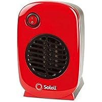 Soleil Personal 250 Watt Electric Ceramic Heater (Red)