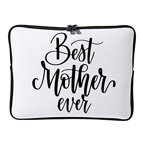 Best Mom Ever Calligraphy Design Laptop Sleeve for Women Notebook Computer Laptop Case Bags for Christmas Birthday Gifts 15-15.6 Inch